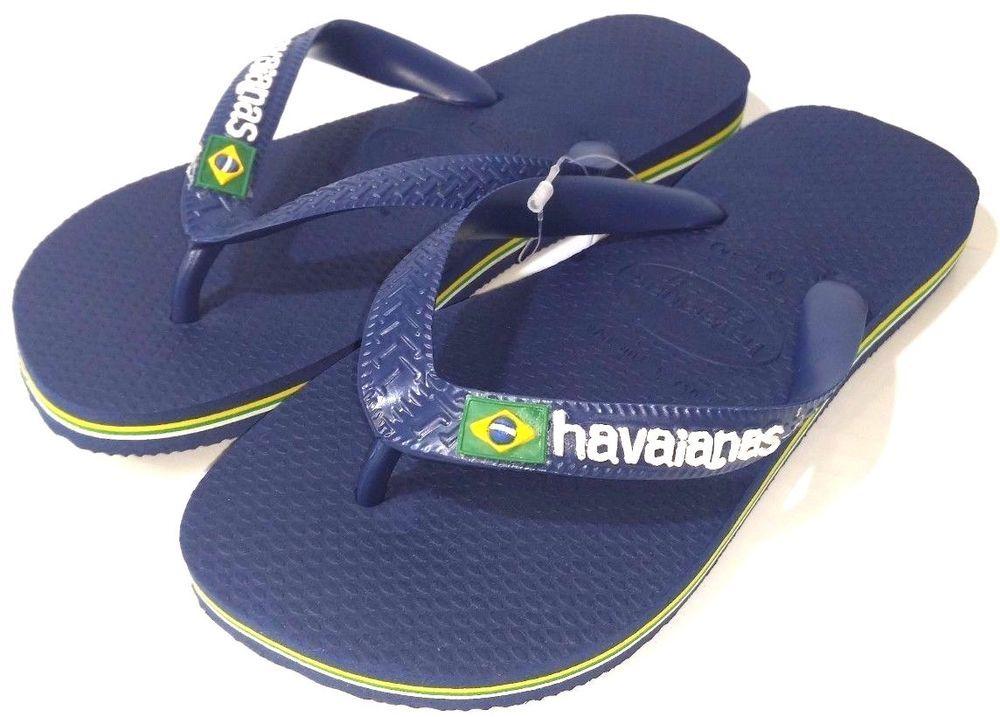 ddd483f1777ac1 Havaianas Kids Brazil Logo Flip Flops Navy Blue NEW  Havaianas  FlipFlops