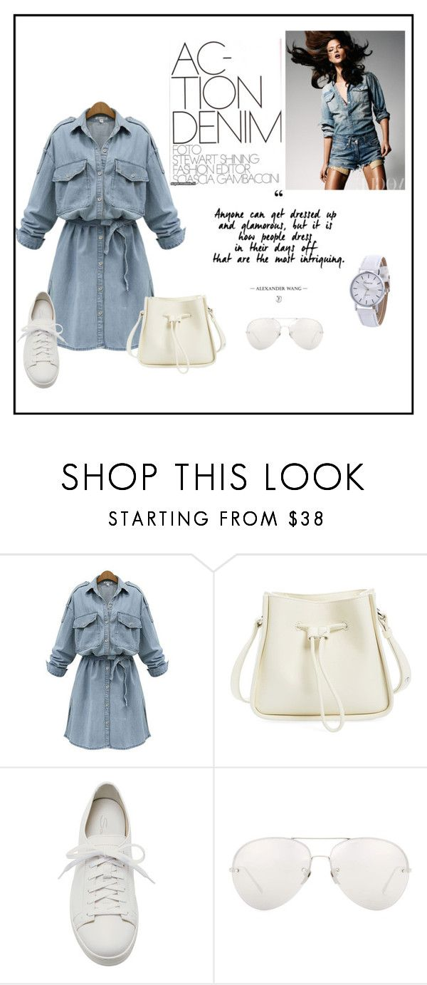 """J"" by ena07-dlxx ❤ liked on Polyvore featuring WithChic, 3.1 Phillip Lim, Santoni and Linda Farrow"