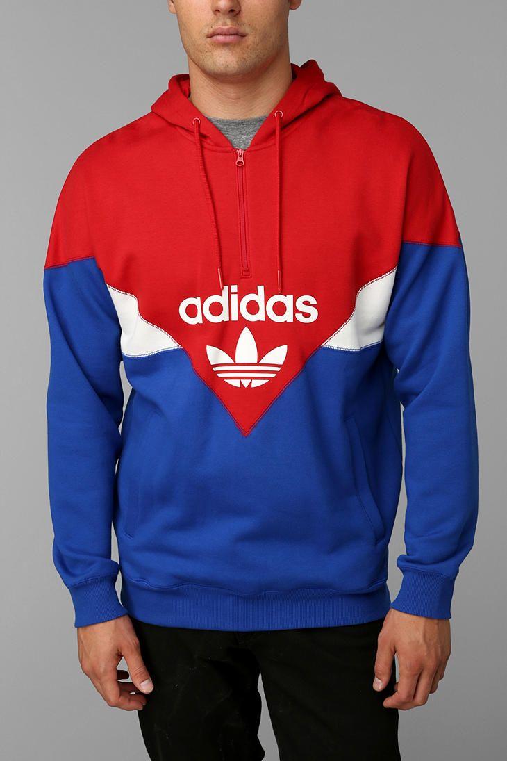 Adidas Colorblock Half Zip Pullover Hoodie Sweatshirt Sweatshirts Hoodie Sweatshirts Hoodies [ 1095 x 730 Pixel ]