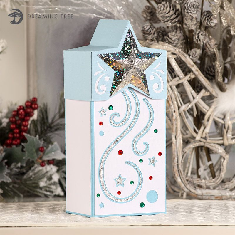 star gift box dreaming tree svg cut file for silhouette designer edition software needed