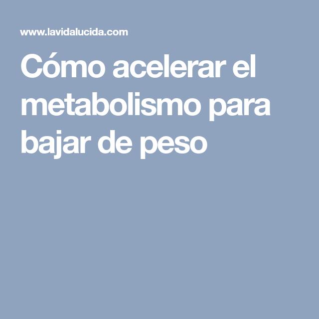Que es la metabolismo