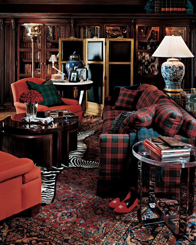 Pin On Mad For Plaid #plaid #living #room #furniture