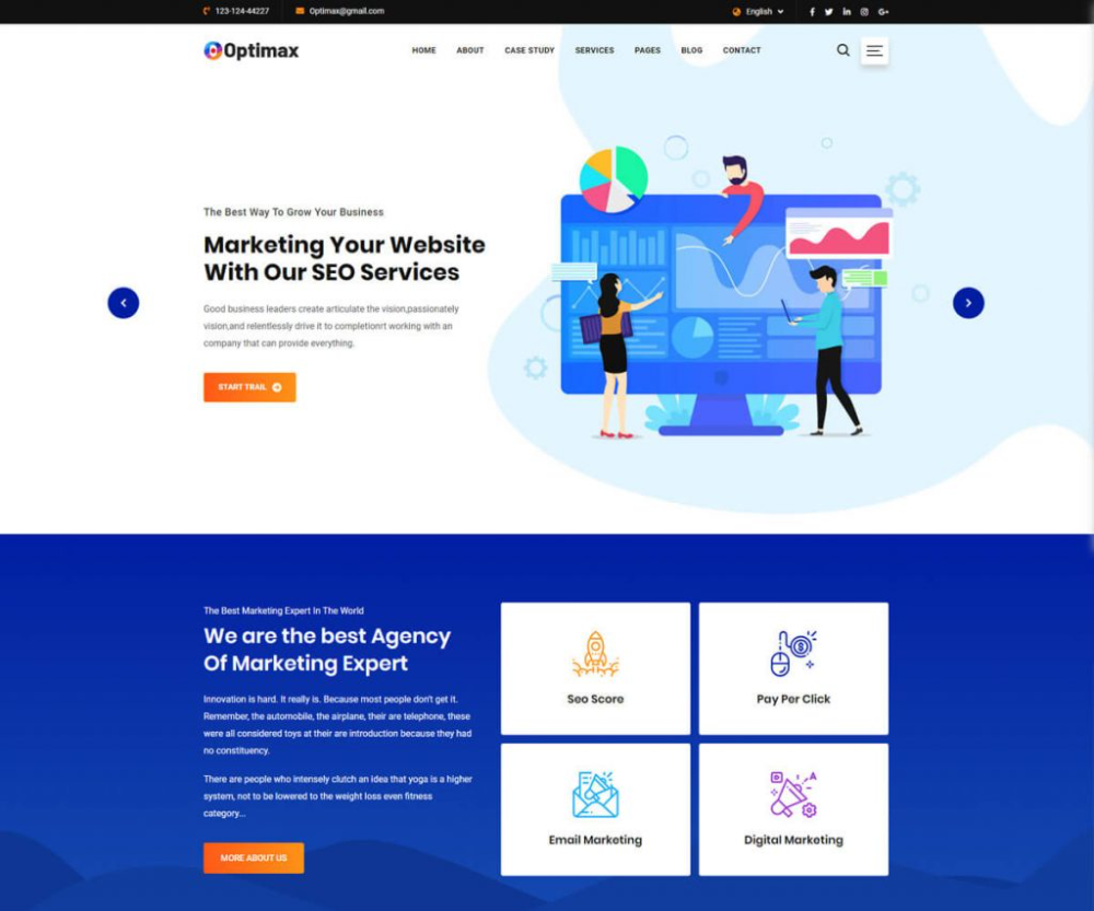 15 Best Seo Website Templates 2021 Radiustheme Website Template Seo Website Best Seo Company