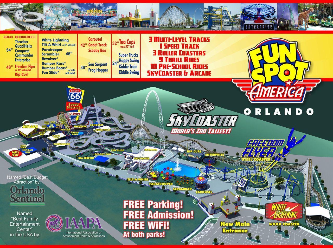 fun spot orlando map Orlando Amusement Park Map Fun Spot America Orlando Amusement fun spot orlando map
