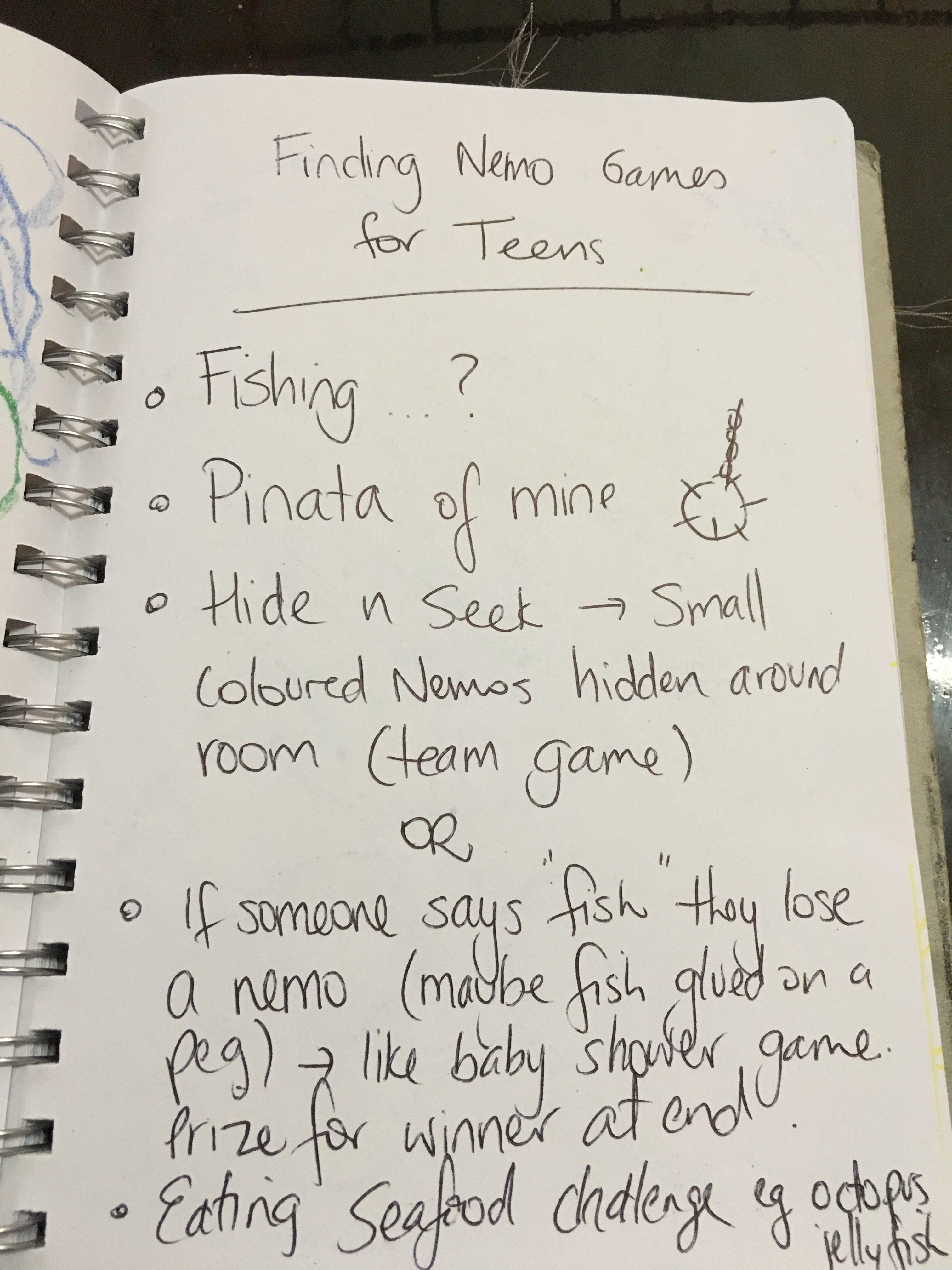 Games Finding Nemo