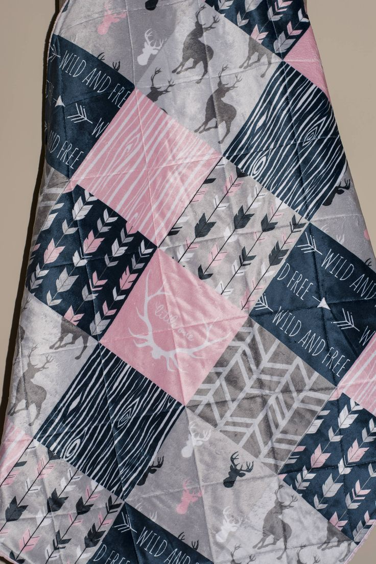 baby girl quilt-woodland baby quilt baby girl quilt mint baby quilt arrow baby quilt baby girl bedding-minky baby quilt