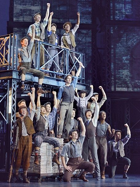 Dan Deluca and the touring cast of Disney's Newsies. NEW NEWSIES PRODUCTION PHOTOS MAKE ME HAPPY