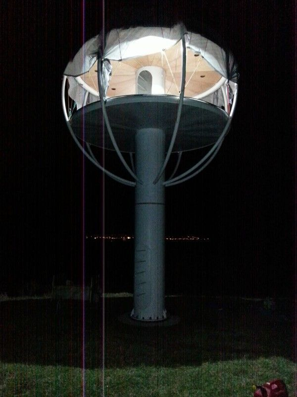 Insane skysphere is a solar powered man cave with voice activated electronics men cave architecture 101 and cave