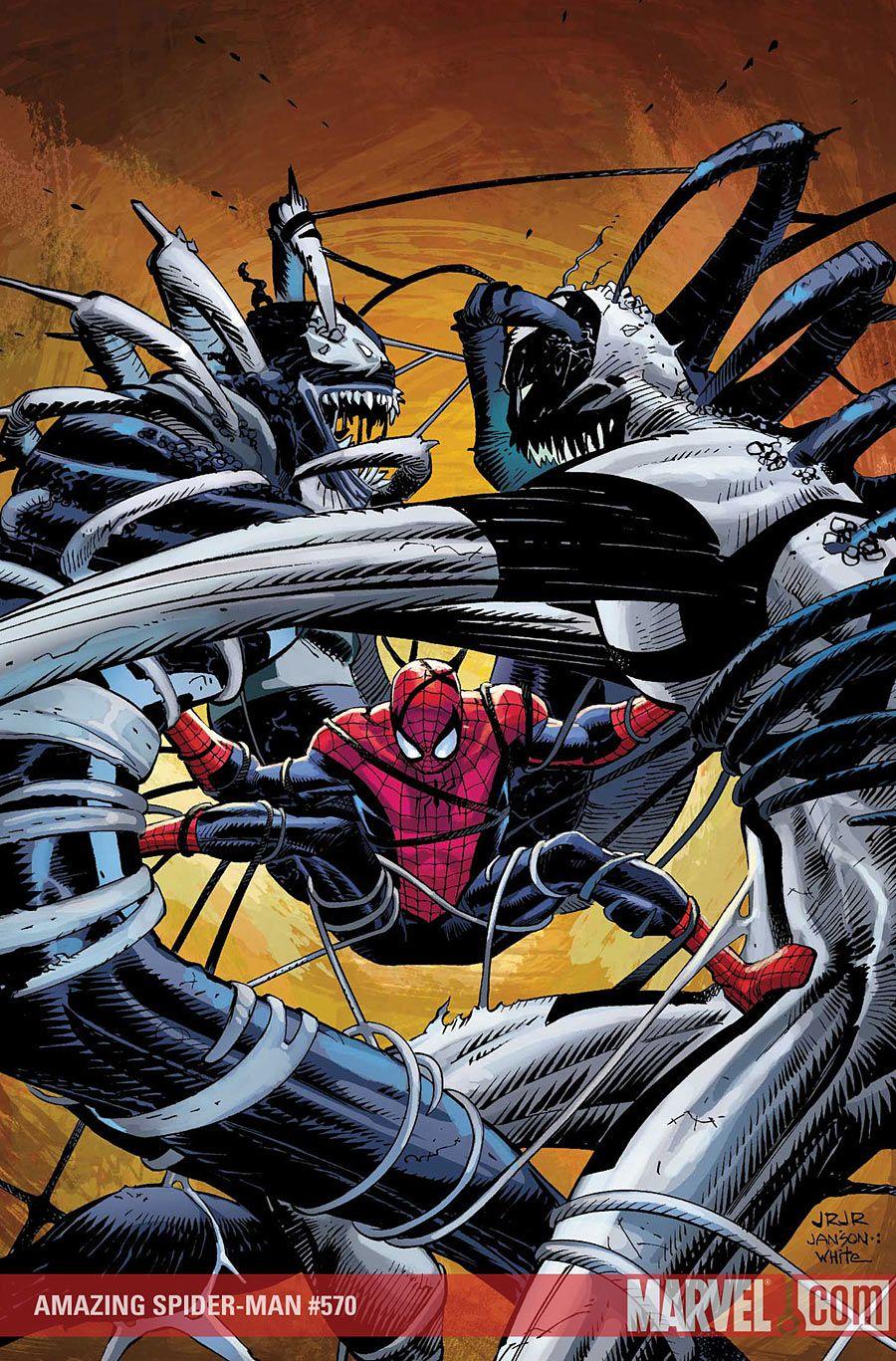#Spiderman #Fan #Art. (AMAZING SPIDER-MAN #570 Cover) By: JOHN ROMITA JR. ÅWESOMENESS!!! [THANK U 4 PINNING!!]