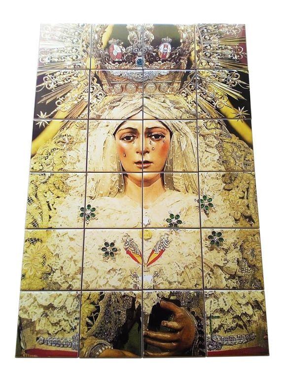 Virgin of Macarena - Our Lady of Sorrows - tile mural - mosaic ...