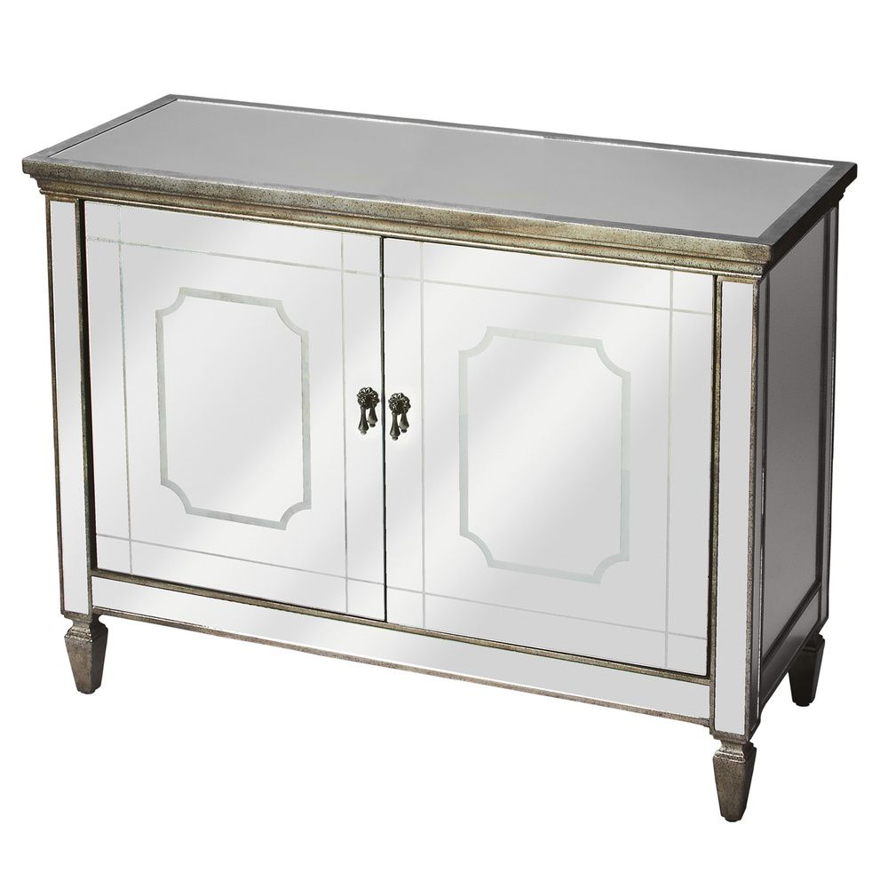 Antiqued Mirrored Console Buffet   Overstock. Dimensions: 31.25 Inches High  X 40 Inches Wide
