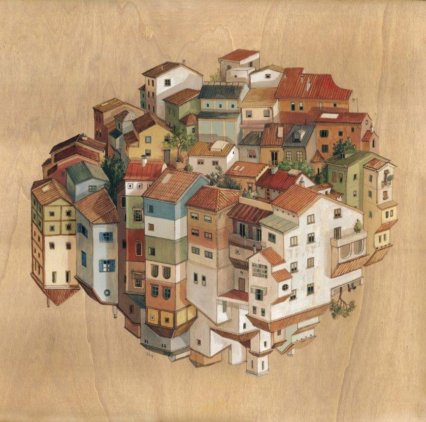 In her latest series of paintings barcelona based artist and illustrator cinta vidal agulló