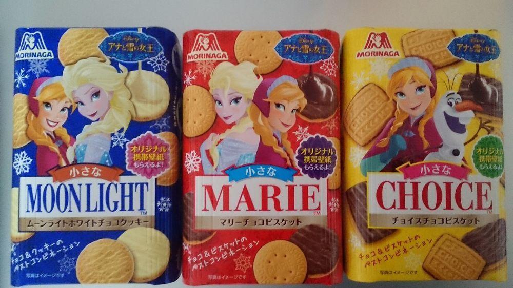 Morinaga Disney frozen cakes chocolate snacks 3sets choice marie moonlight #Disney