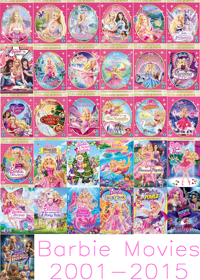 Barbie Movies Fan Art Barbie Movies 2001 2015 Barbie Movies Barbie Movies List Barbie