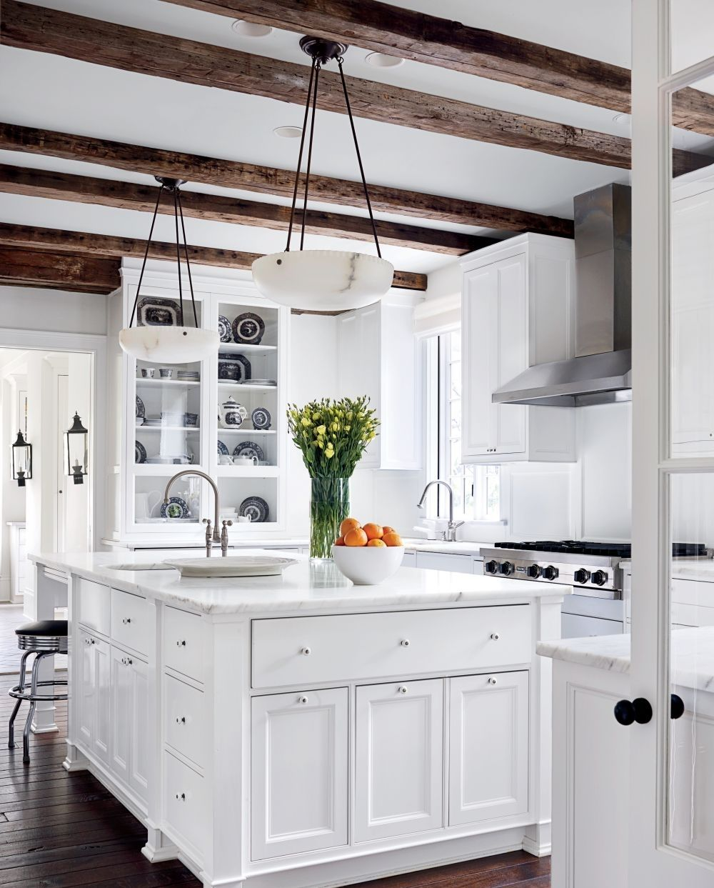 Image of go vintage with antique cabinet for chic kitchen kitchens
