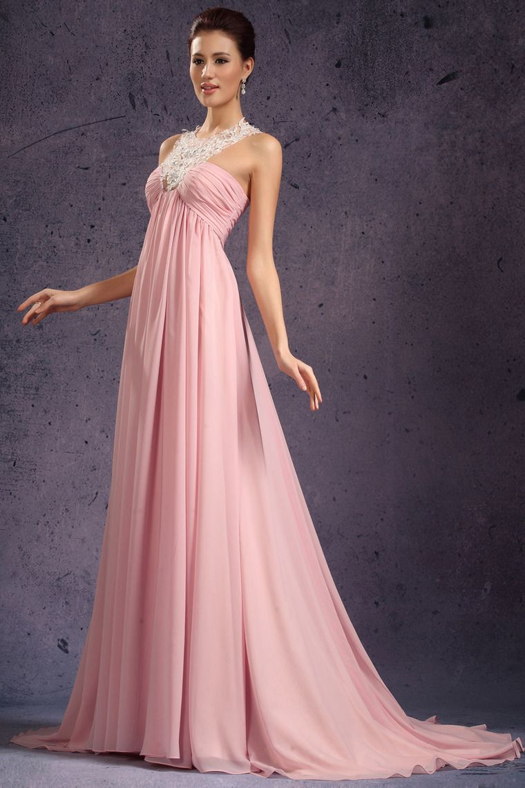 Unusual Prom Dresses V Neck Empir Waist Court Train New Style USD ...