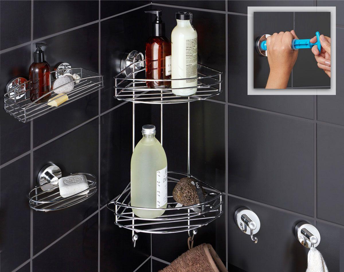 Accessoires de salle de bains par ventouse ultra résistante
