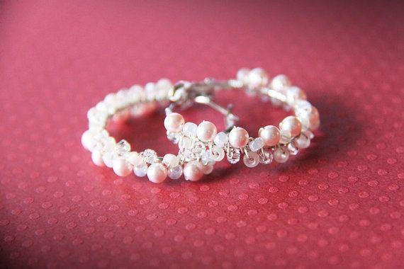 Baby Pink Bubbles  Swarovski Elements Light by myhandmadecrafts,