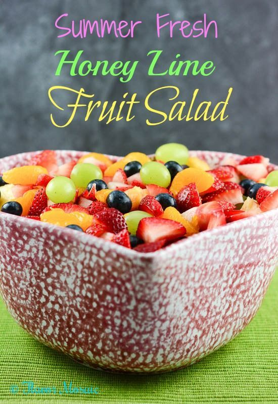 Summer Fresh Honey Lime Fruit Salad with strawberries, blueberries, green grapes... Summer Fresh Honey Lime Fruit Salad with strawberries, blueberries, green grapes... -  -