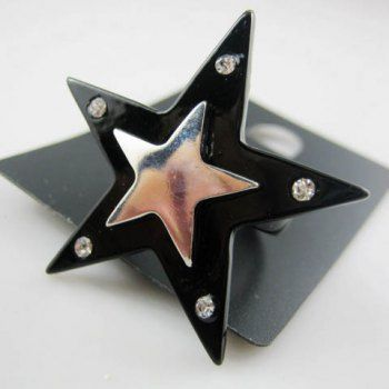 Elegant Style Exquisite Pentagram Embellished Ring, AS THE PICTURE, ONE SIZE in Rings   DressLily.com