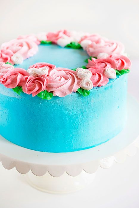 Easy Decorating Cakes mother's day cake {easy rosette's | happy tears, cake and decorating