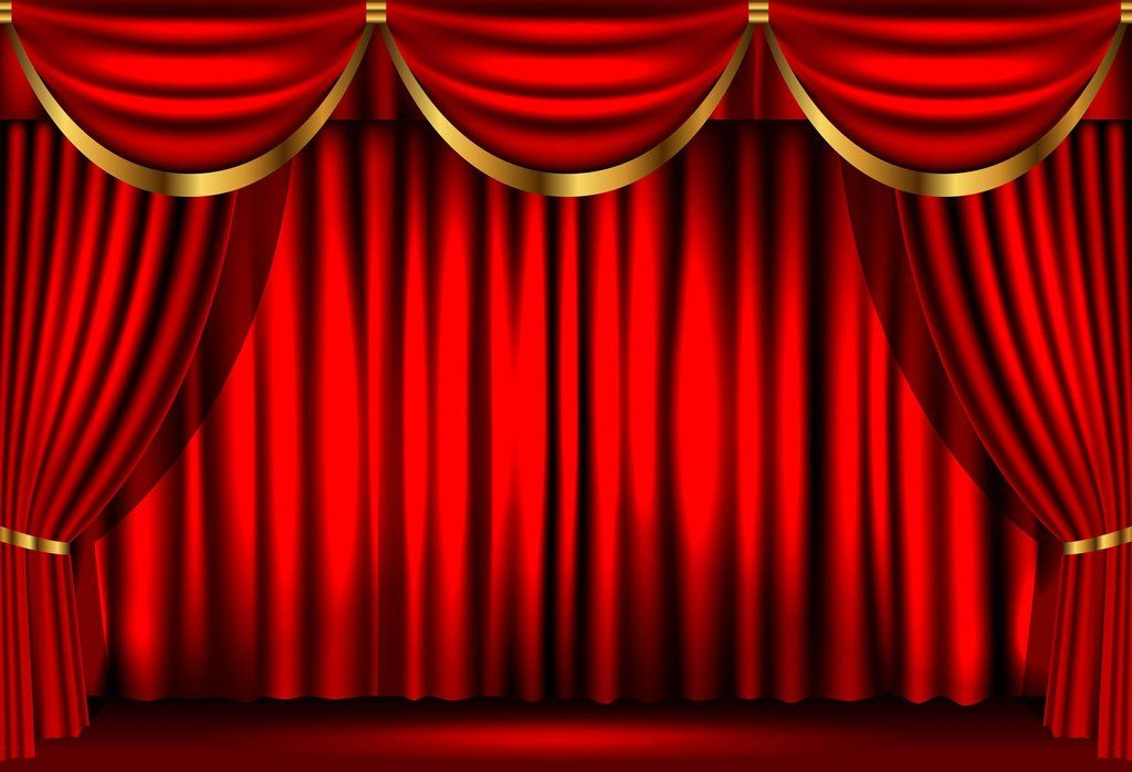red curtains for theater stage backdrop