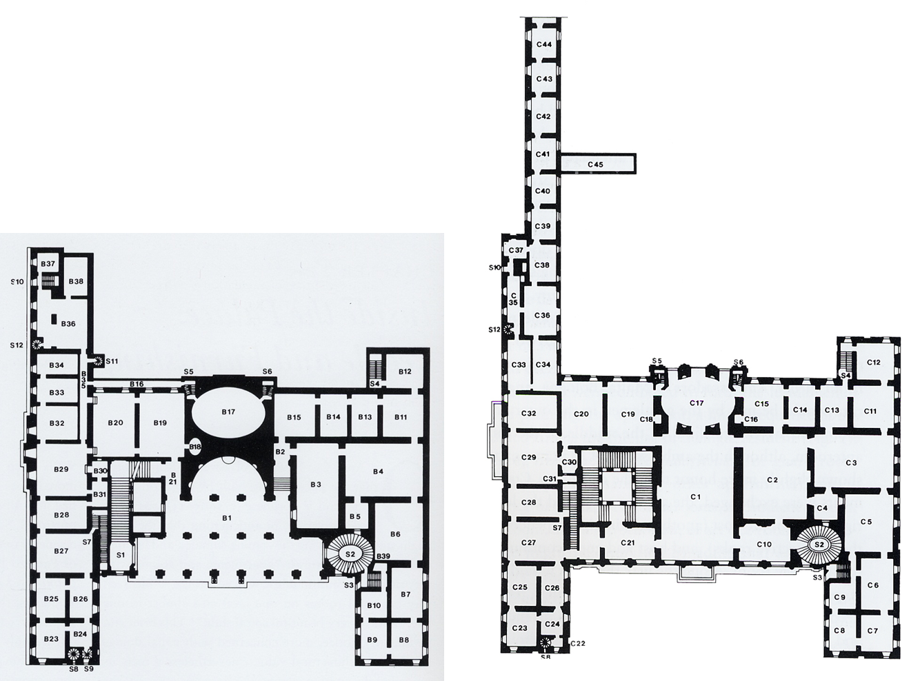 Palazzo Barberini Rome Ground First Floor Plans