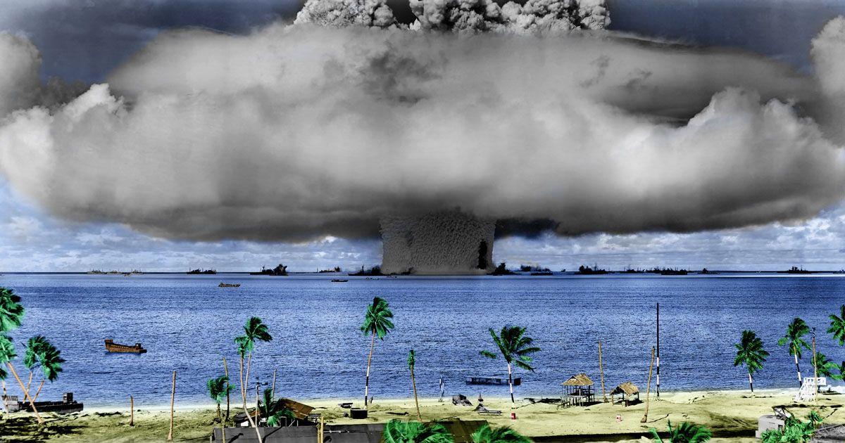 Bikini atoll atomic testing photos