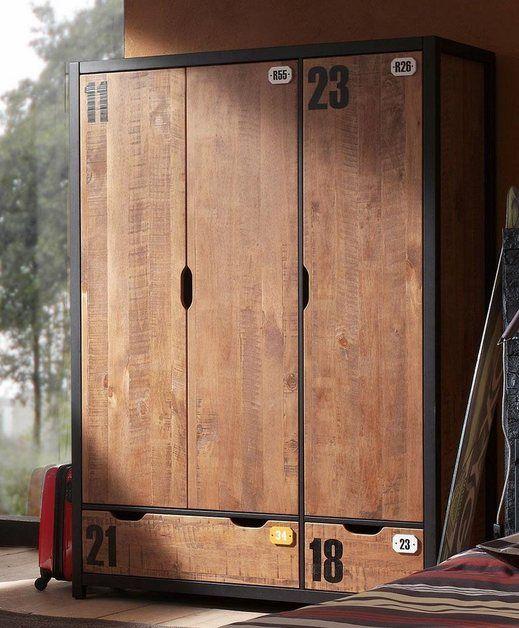 Kleiderschrank Alex Aus Teilmassiver Kiefer Und Mdf In 2 Breiten Kleiderschrank Holz Diy Kleiderschrank Kleiderschrank Jugendzimmer