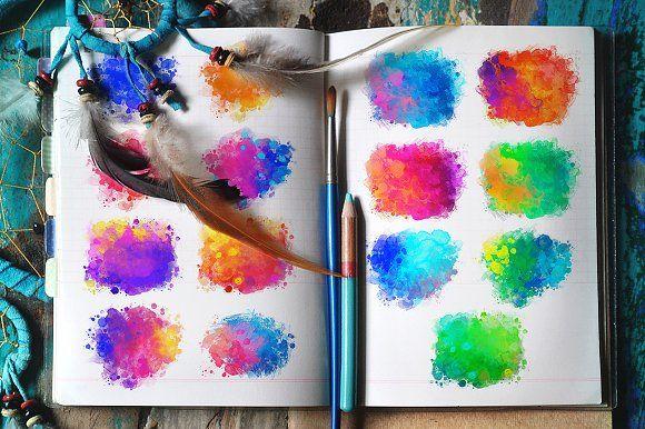 Watercolors: 15 textures - Textures