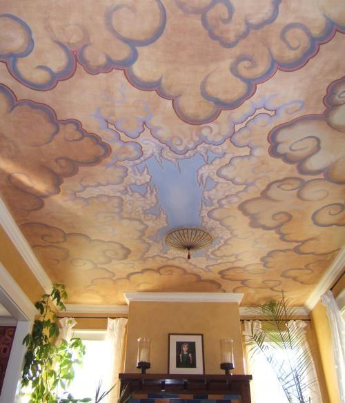 Tibetian Clouds ceiling mural by Scott Guion | Murals | Pinterest ...