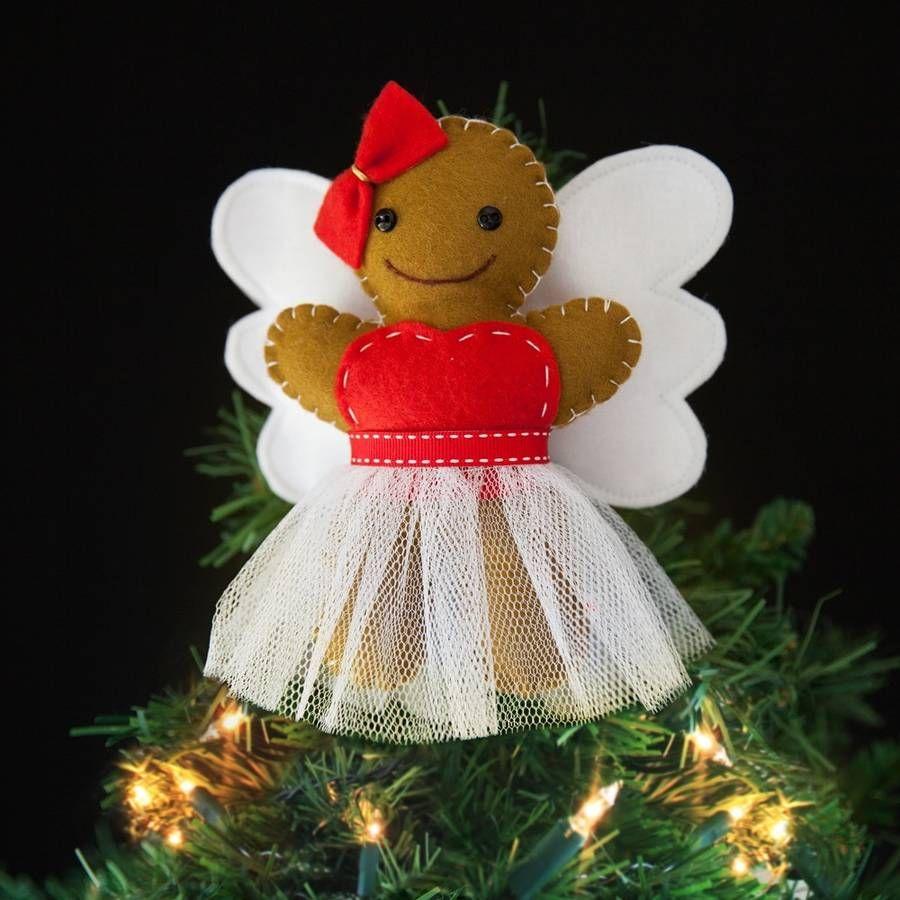 Fairy christmas ornaments - Gingerbread Fairy Christmas Tree Topper