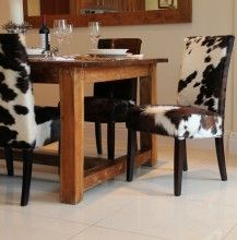 Cowskin Dining Room Chairs Cowhide Dining Chair Cow Hide