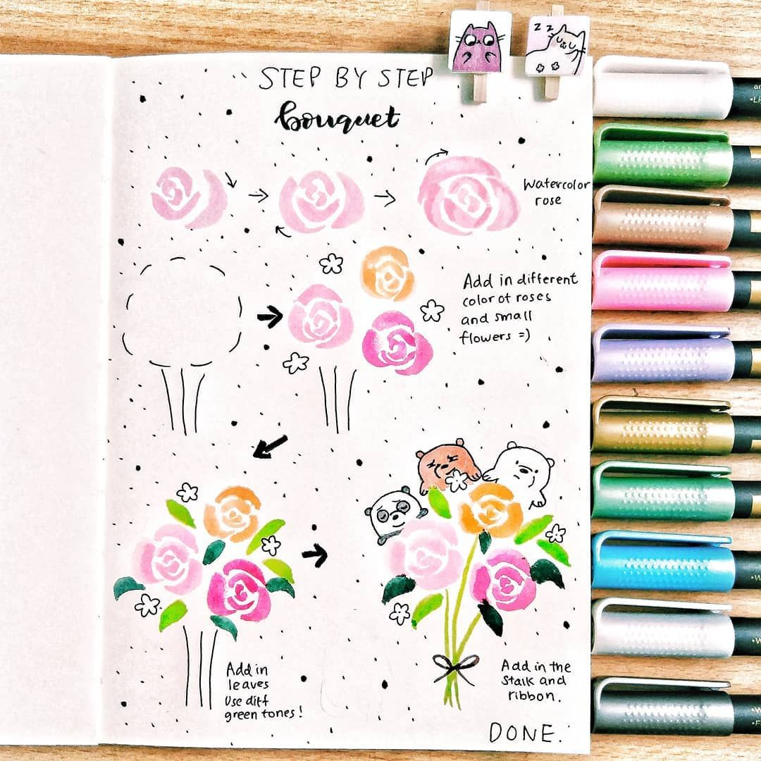 60 How To Doodle Tutorials For Your Bullet Journal Doodles