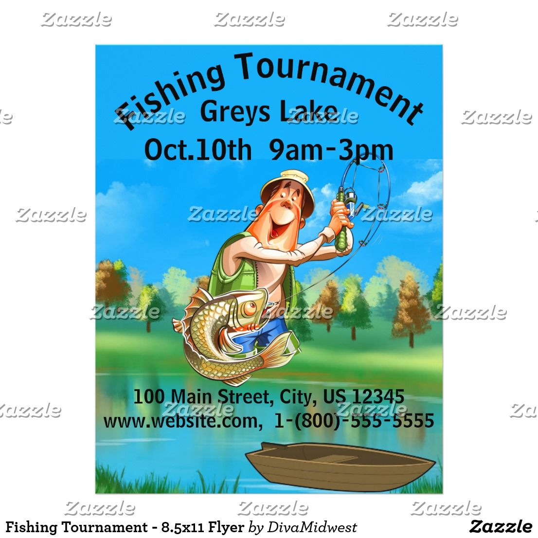 Fishing Tournament 85x11 Flyer Event Flyers Pinterest