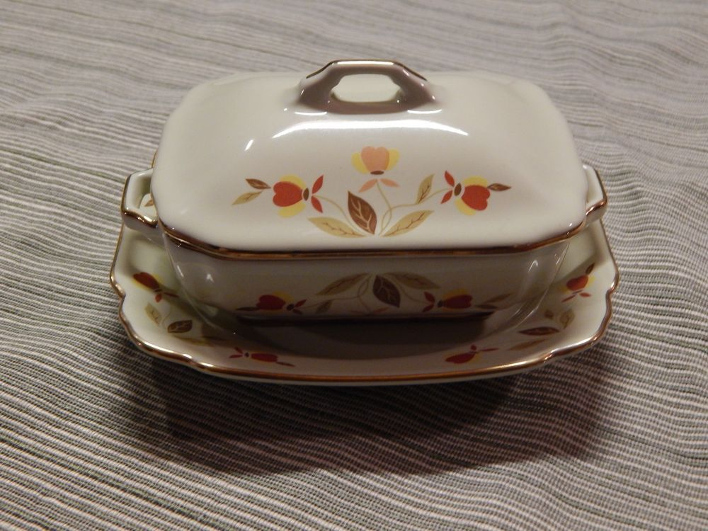 China Specialties Autumn Leaf Mini Serving Dish W Lid And Plate With Images Jewel Tea Dishes Dinnerware Serving Dishes