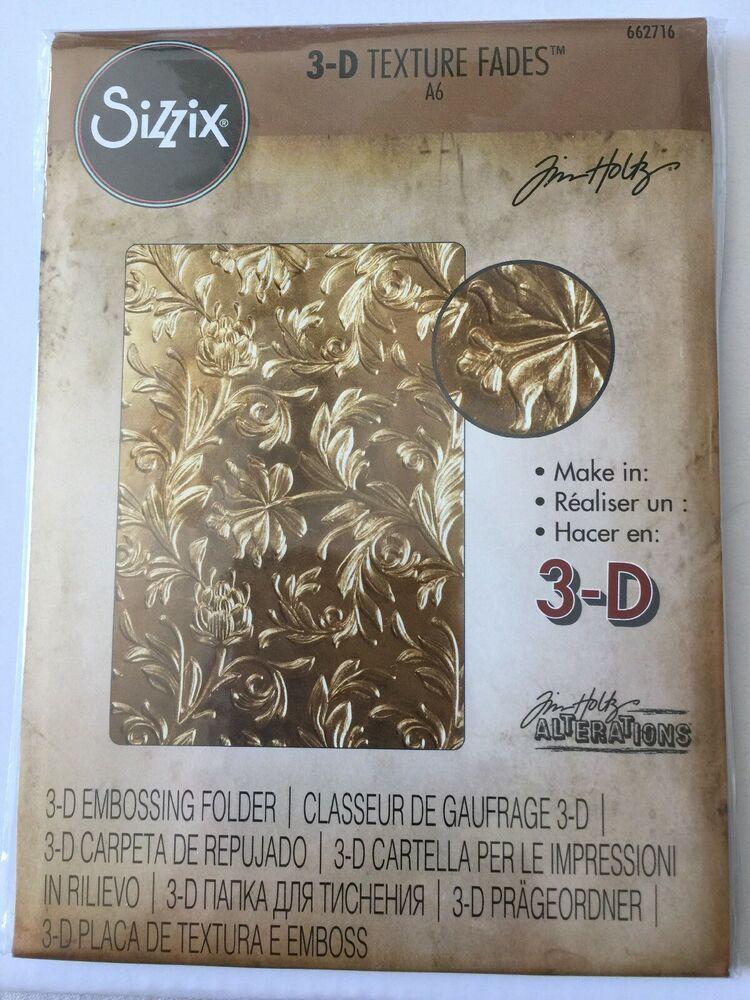 Sizzix 662716 3-D Texture Fades Embossing Folder Gold