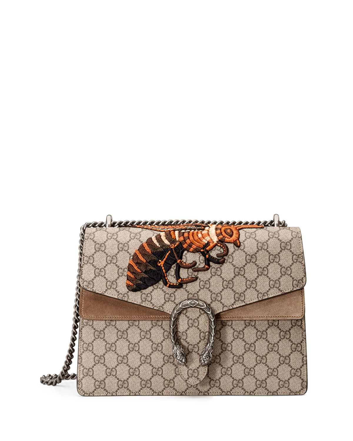 dba0c50ec98 Gucci Dionysus GG Supreme Canvas Embroidered Queen Bee Shoulder Bag ...