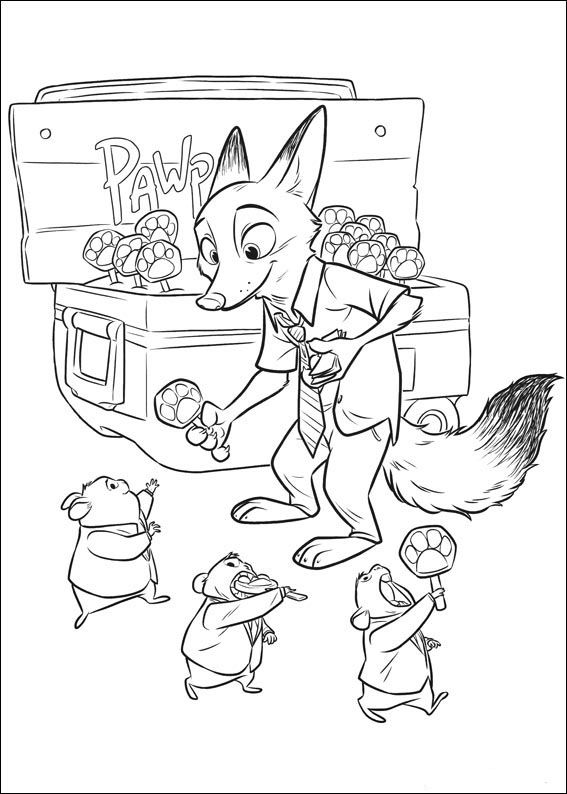 Zootopia Coloring Pages 3 | coloring pages | Pinterest | Zootopia ...