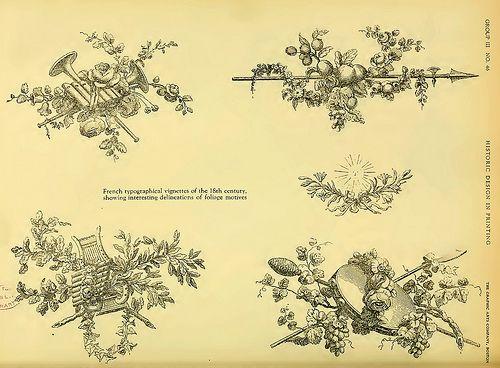 17- Viñetas tipograficas francesas del siglo XVIII