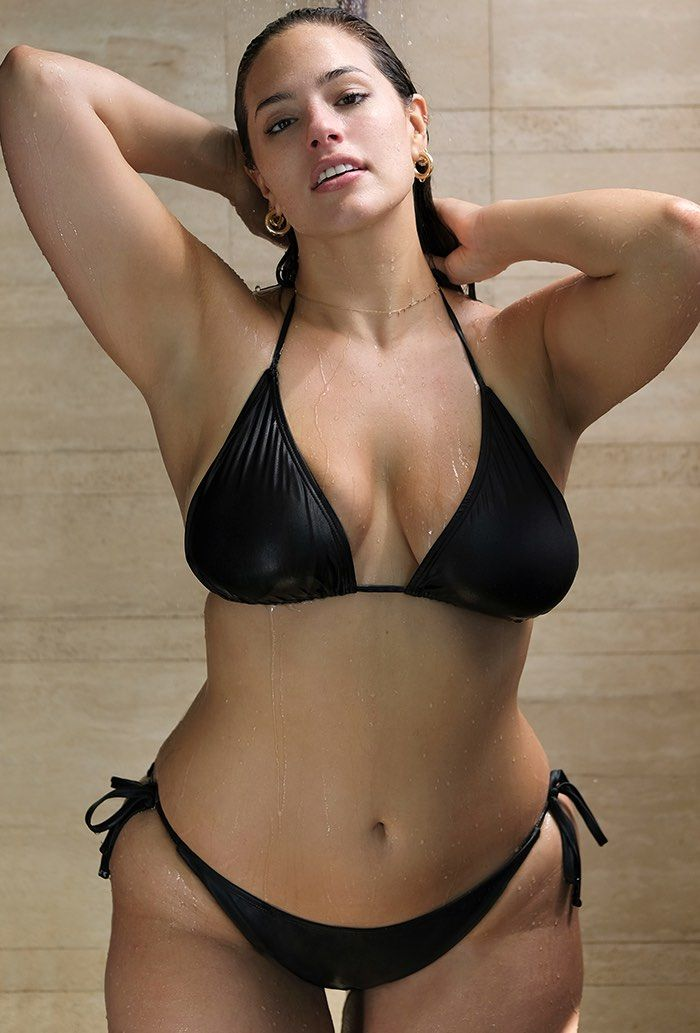4ddd48283f Ashley Graham x swimsuitsforall Ashley Graham x Swimsuits for All Icon Black  Plus Size Bikini