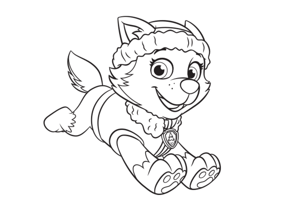 Everest Coloring Page PAW Patrol Paw patrol coloring