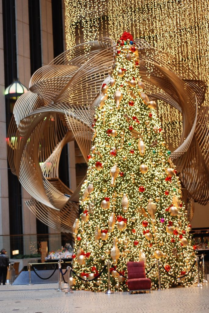 Hyatt Regency San Francisco Christmas In America Beautiful Christmas Outdoor Christmas Decorations