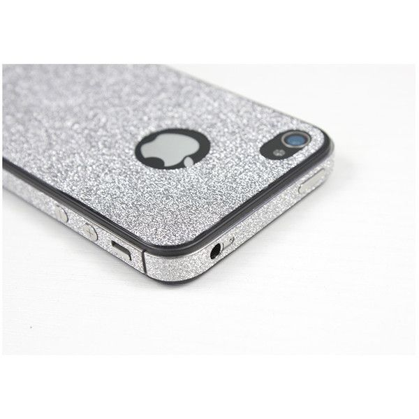 Bling Bling Sparkling Protector Skin Sticker for Apple iPhone 4 4S, 3... ($9.99) ❤ liked on Polyvore