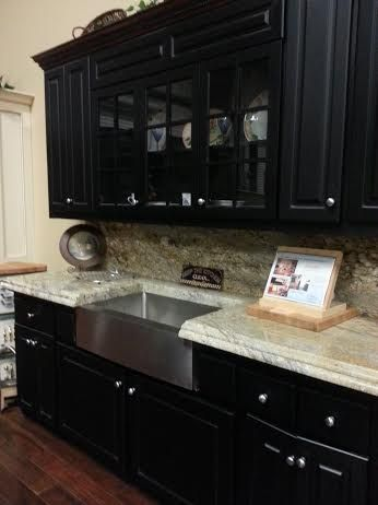 nice countertop with the black cabinets black cabinets decor countertops on kitchen decor black countertop id=47379