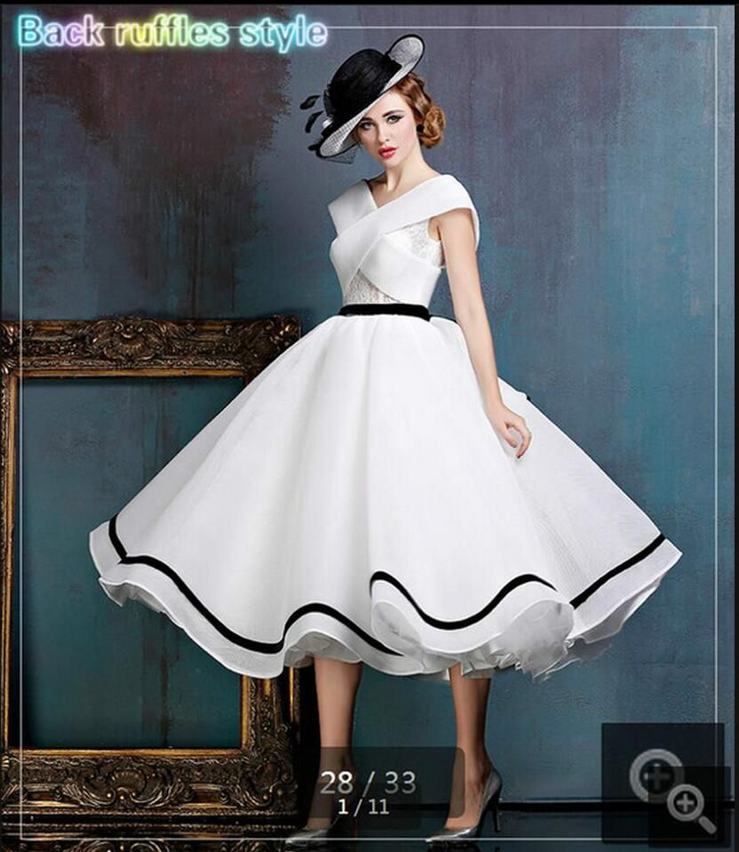 real picture white ruffled a line lace cap sleeve wedding