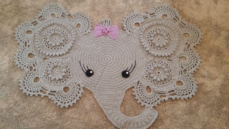 Elephant rug, crochet elephant, crochet elephant rug, nursery rug ...   1688x3000