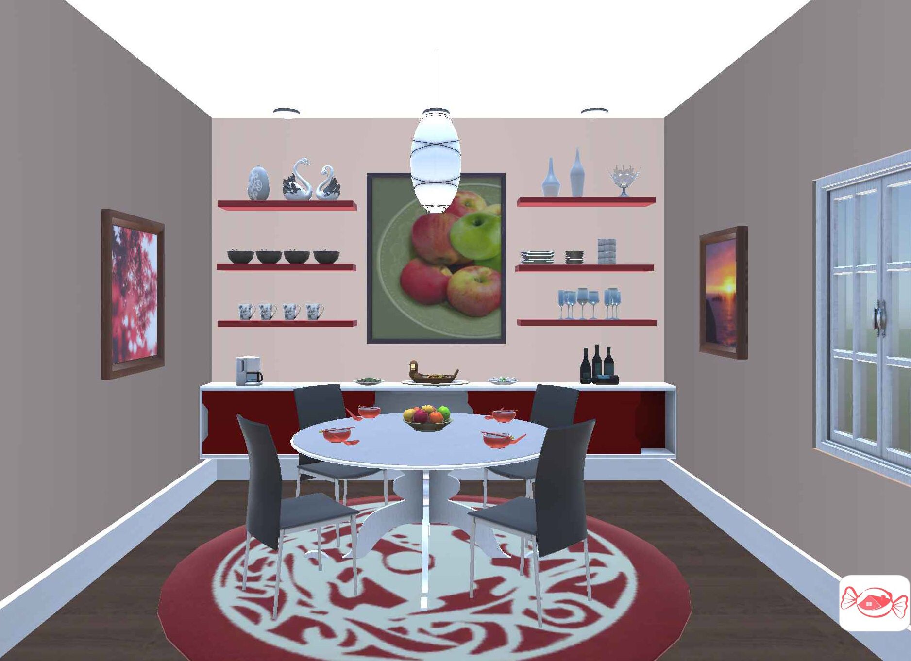 Mini dining room created with home sweet  app also agora designs rh pinterest