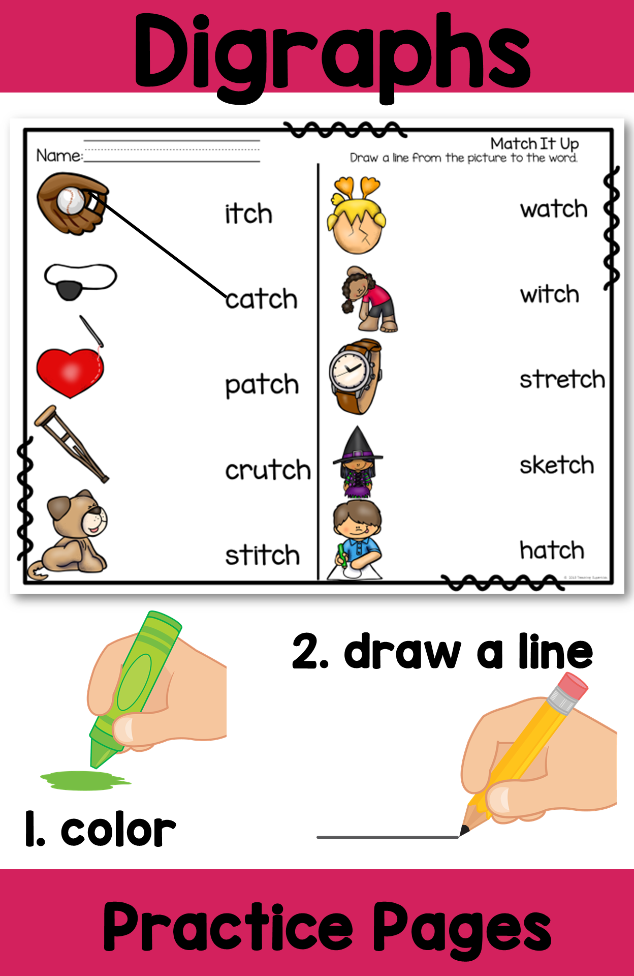 Digraphs Tch Printable And Activities