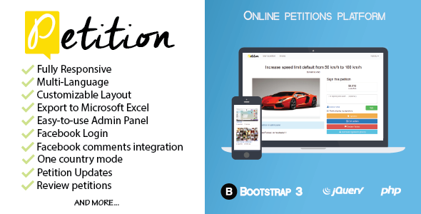 Petitions platform by smailio Petition is a PHP script for online ...
